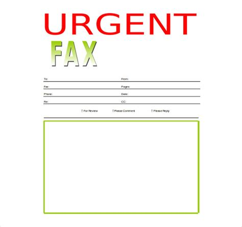 word fax cover sheet templates