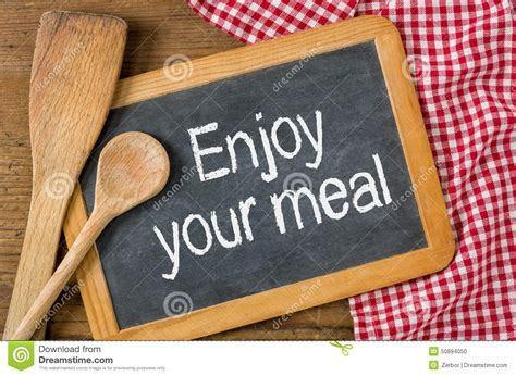 Enjoy Your Meal Stock Illustration   Image: 50894050