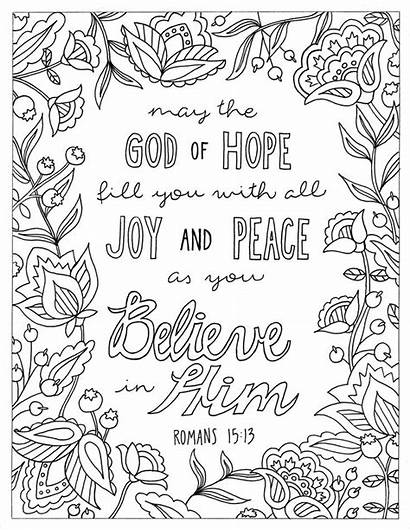 Coloring Printable Pages Bible Hope Adult God