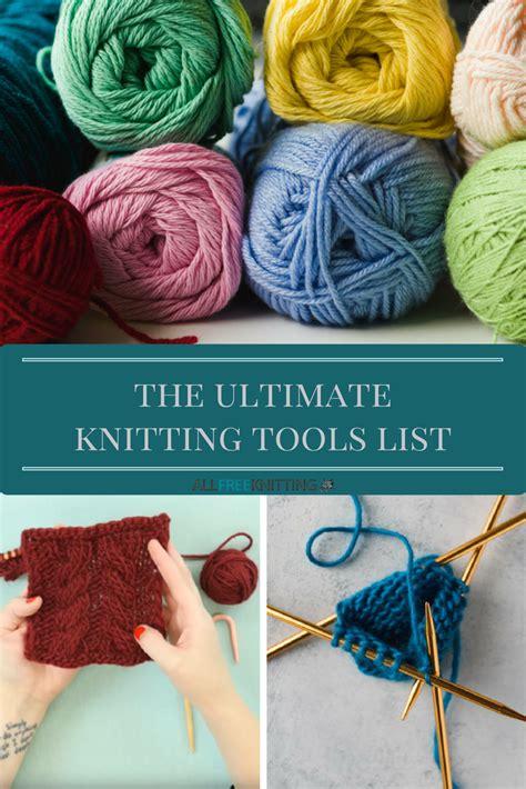 beginning knitting supplies  ultimate knitting tools