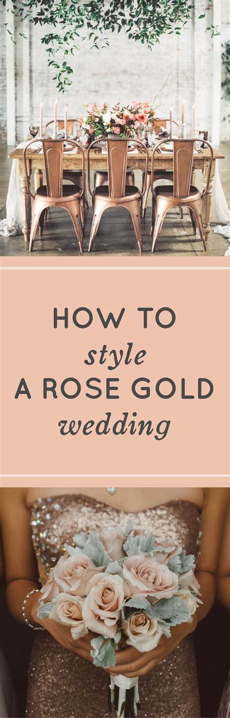 Rose Gold Wedding Ideas How to Style a Rose Gold Wedding