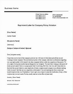 reprimand letter sample templates for word document With letter of reprimand template