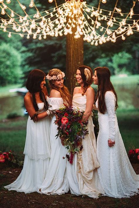picture of dreamy woodland boho chic wedding ideas 12