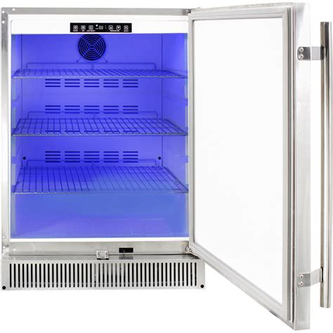 blaze    cu ft outdoor stainless steel compact refrigerator ul approved extreme