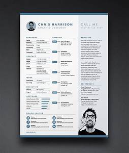 Template For Cover Letter Free Resume Cv Template In Indd Photoshop Psd Word Docx