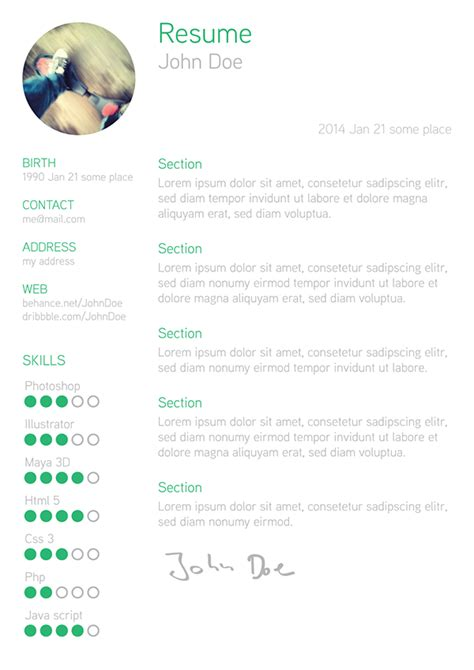 free resume formats 2014 25 best free professional cv resume templates 2014