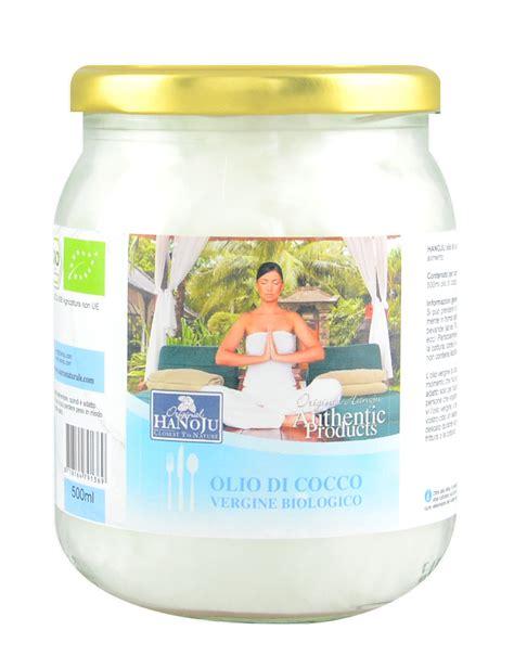 olio di cocco biologico alimentare olio di cocco vergine biologico di hanoju 500ml