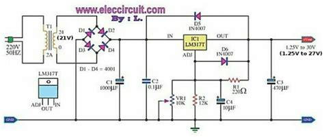 Pcb Variable Output Power Supply Circuit