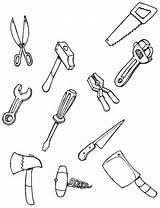 Tools Mechanic Drawing Coloring Getdrawings sketch template