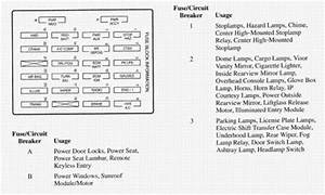 I Need Fuse Panel Diagram For A 2000 Olds Bravada