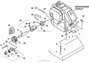 Bunton  Bobcat  Ryan 544873b Mataway Overseeder Parts Diagram For Engine And Drive Assembly