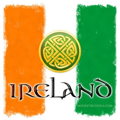 ireland colors the monkey buddha quot celtic flag quot