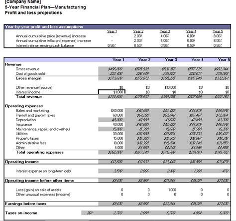 year financial plan  template planning engineer