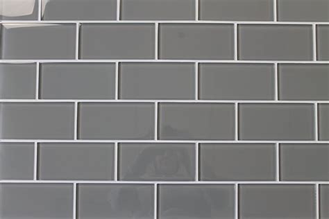 Pebble Gray 3x6 Glass Subway Tiles ? Rocky Point Tile