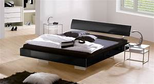 Moderne Betten 140x200 : edles hochglanz schwebebett in schwarz z b 140x200 cm timeless ~ Markanthonyermac.com Haus und Dekorationen