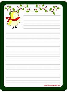 christmas stationary free with bird stationary With holiday letter writing paper