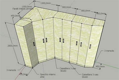 armadio con cabina ad angolo forum arredamento it layout da letto
