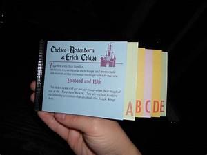diy vintage disneyland ticket book wedding invitations With homemade disney wedding invitations
