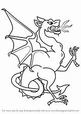 Wyvern Draw Step Pages Drawing Coloring Template Sketch Dragons Drawingtutorials101 Tutorials sketch template