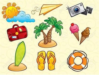 Clipart Vacation Summer Beach Vector Pack Illustration