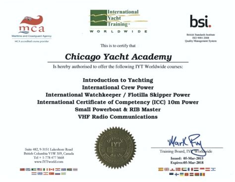 Boating License Chicago by Boating Classes Chicago Yacht Works