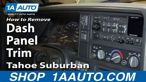 how to remove install dash panel trim 1996 99 chevy k1500 tahoe suburban
