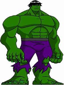 Hulk clipart cartoon cute - Pencil and in color hulk ...