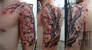 Tatouage Arbre Japonais : tatouage arbre en fleur bras complet homme yh5e4 mode ~ Melissatoandfro.com Idées de Décoration