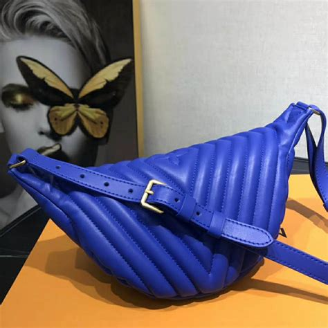 louis vuitton lv women  wave bumbag quilted calf blue lulux