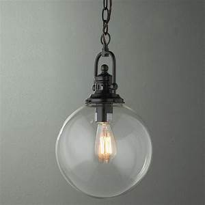 Clear glass globe industrial pendant finishes