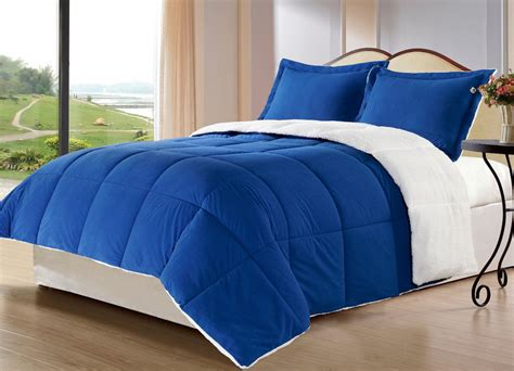 royal blue comforter royal blue borrego blanket alternative comforter set