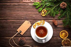 Christmas Cup of Tea 4K HD Desktop Wallpaper for 4K Ultra HD TV • Wide & Ultra Widescreen ...