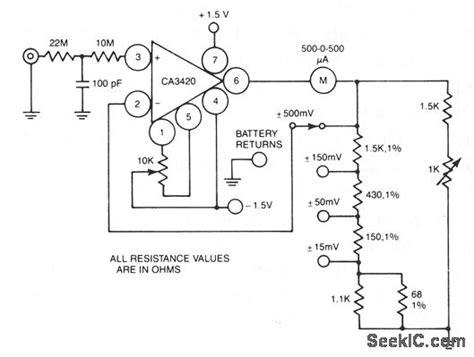 High Nput Resistance Voltmeter Measuring Test