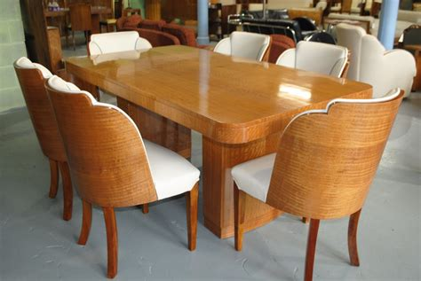 epstein dining table and 6 cloud back chairs in fiddle