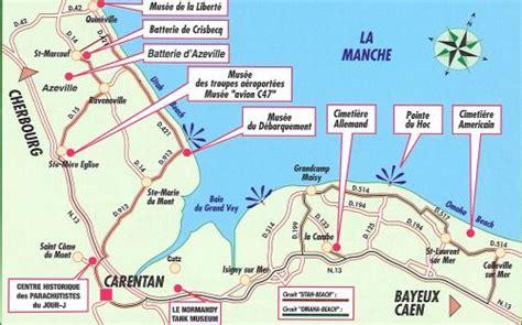 Carte De Plage Normandie by Carte De Basse Normandie Plan Touristique Plages Du