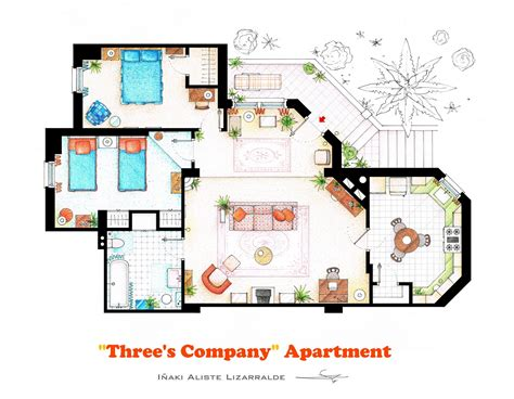 accurate floor plans   famous tv show apartments