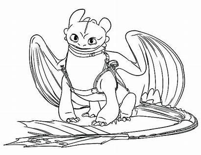 Coloring Dragon Train Pages Fury Toothless Night