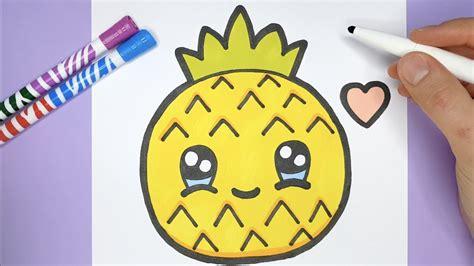 kawaii ananas zeichnen und malen kawaii bilder youtube