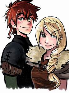 Aww Hiccup and Astrid so cute together