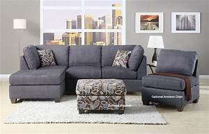 Charcoal gray sectional sofa with chaise lounge for Discount grey sectional sofa