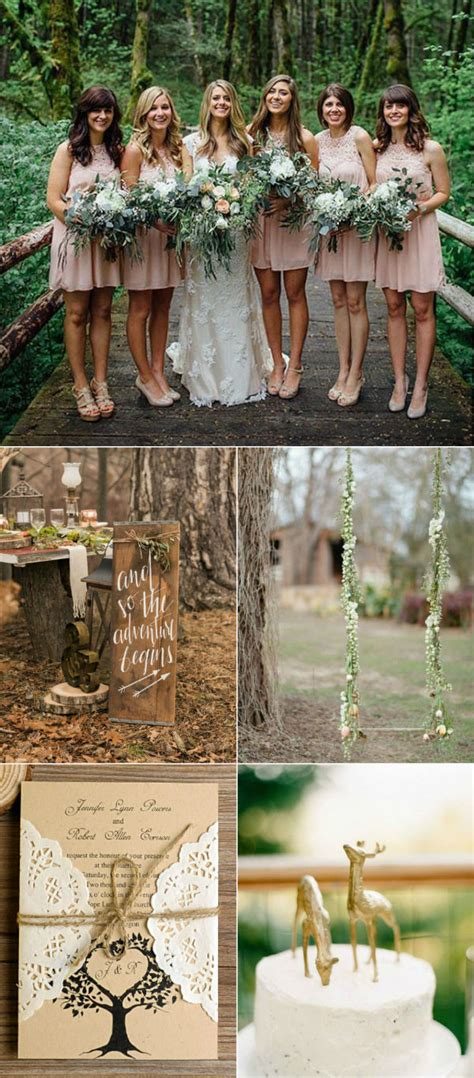 28 Whimsical And Chic Woodland Wedding Ideas With Rustic