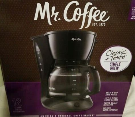 Coffee ecmp40 espresso machine question. Mr. Coffee Simple Brew 12-Cup Maker, Black for sale online ...