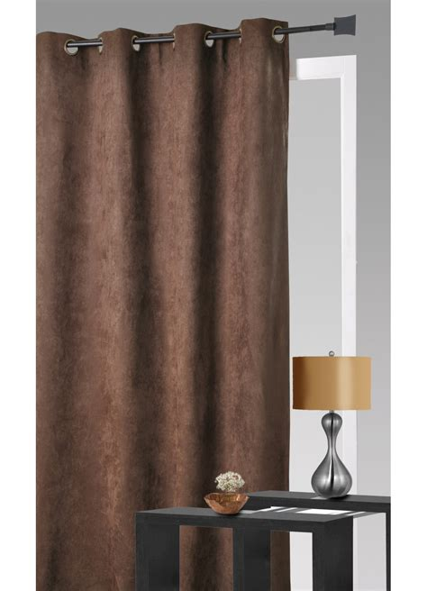 Rideau Beige Taupe Clair by Rideau Aspect Velours Chocolat Terracotta Anis