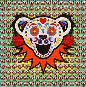 Sugar Bear Grateful Dead BLOTTER ART perforated acid art