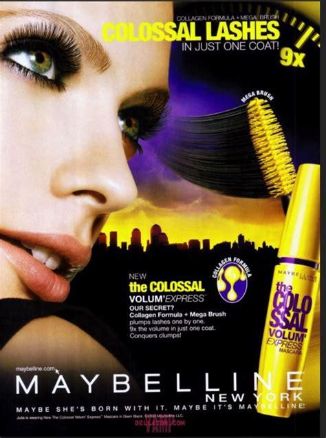 colossal mascara print lip ad page  yeux