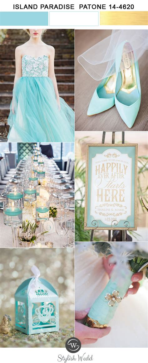 top  wedding colors  spring  inspired  pantone