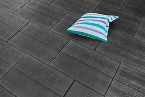 Betonplatten Mit Holzstruktur : dunkel und elegant ist die natura platte basalt mit holzstruktur 60x40 cm mit angedeuteter ~ Markanthonyermac.com Haus und Dekorationen