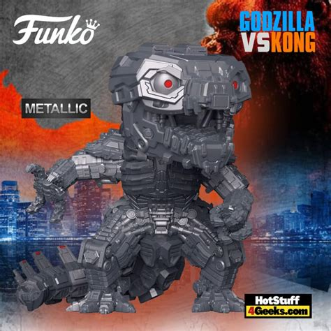 Movable cannons are attached to shoulder and chest of the figure. Godzilla Vs Kong Mechagodzilla Funko Pop / Funko Fair 2021 ...