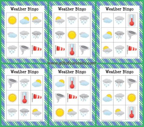 free printable weather bingo all printables from a z 608 | 075987344324397b72599d6401046dc1 weather for preschoolers weather games for kids