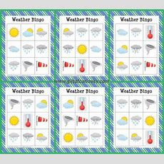 Free Printable Weather Bingo  All Printables From Az  Weather Activities Preschool, Learning